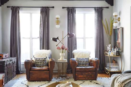 brady-tolbert-design_emily-henderson_living-room_eclectic_pavillion-grey_farrow-and-ball_brass-coffee-table_english-roll-arm_albini_masculine_traditional_west-elm_souk_flokati_leather_3